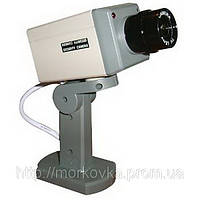 Муляж камеры наблюдения двигающийся с датчиком XL018, Видео камера обманка, видеокамера, наружная