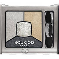 "BOURJOIS SMOKY STORIES тени для глаз ""квадро"" 09 Grey-zy In Love 3.2g"