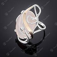 Серебряное кольцо с кварцем. Артикул П-295