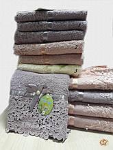 Рушник банний Мереживо з бусинкою
