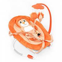 Шезлонг-качалка Baby Tilly мобиль с игрушками  до 9 кг оранжевый