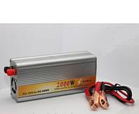 Автомобильный преобразователь напряжения 12V-220V 2000W, авто инвертор, 12/220В 2000Вт