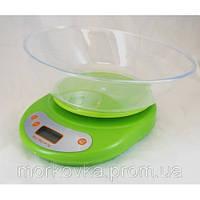 Кухонные электронные весы до 5 кг Green EK01,  Зеленые, Салатовые