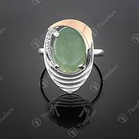Серебряное кольцо с улекситом. Артикул П-307