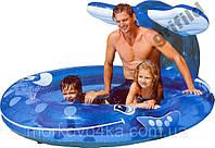 Детский надувной бассейн Intex 57435 208x157x99 см веселый кит с фонтаном