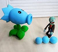 Игрушки Растения против зомби, морозный горохострел