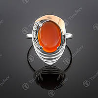 Серебряное кольцо с сердоликом. Артикул П-307
