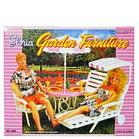 Мебель для кукол Gloria Столик для пикника с зонтиком