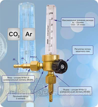 Ротаметр 25 Ar/CO2 ДМ, фото 2