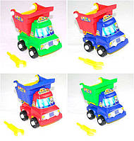 Детский авто конструктор, машина - самосвал Кузя 059711, BAMSIC, 12*13*80 см, с инструментами