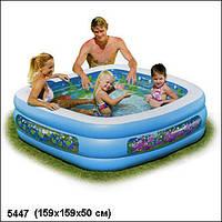 Детский надувной бассейн Аквариум Intex 57471 159x159x50 см