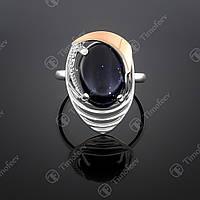 Серебряное кольцо с авантюрином. Артикул П-307