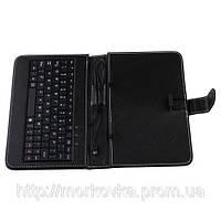 "Чехол клавиатура для ПК планшета 7 Rus Black Mini и Micro Usb,  чехол для планшета ПК ""7"" Черный"
