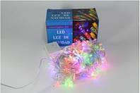 Новогодняя многоцветная светодиодная гирлянда LED 400 M  RGB COLOR