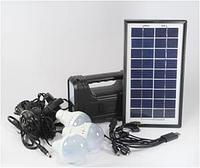 Универсальный аккумулятор фонарь для туризма от солнечной батареи GD LITE GD8017 Plus