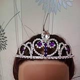 Корона, диадема София для девочки, высота 4 см., фото 8