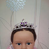 Корона, диадема София для девочки, высота 4 см., фото 7