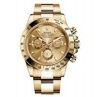 Мужские часы Rolex Daytonа кварцевые золотые желтый циферблат