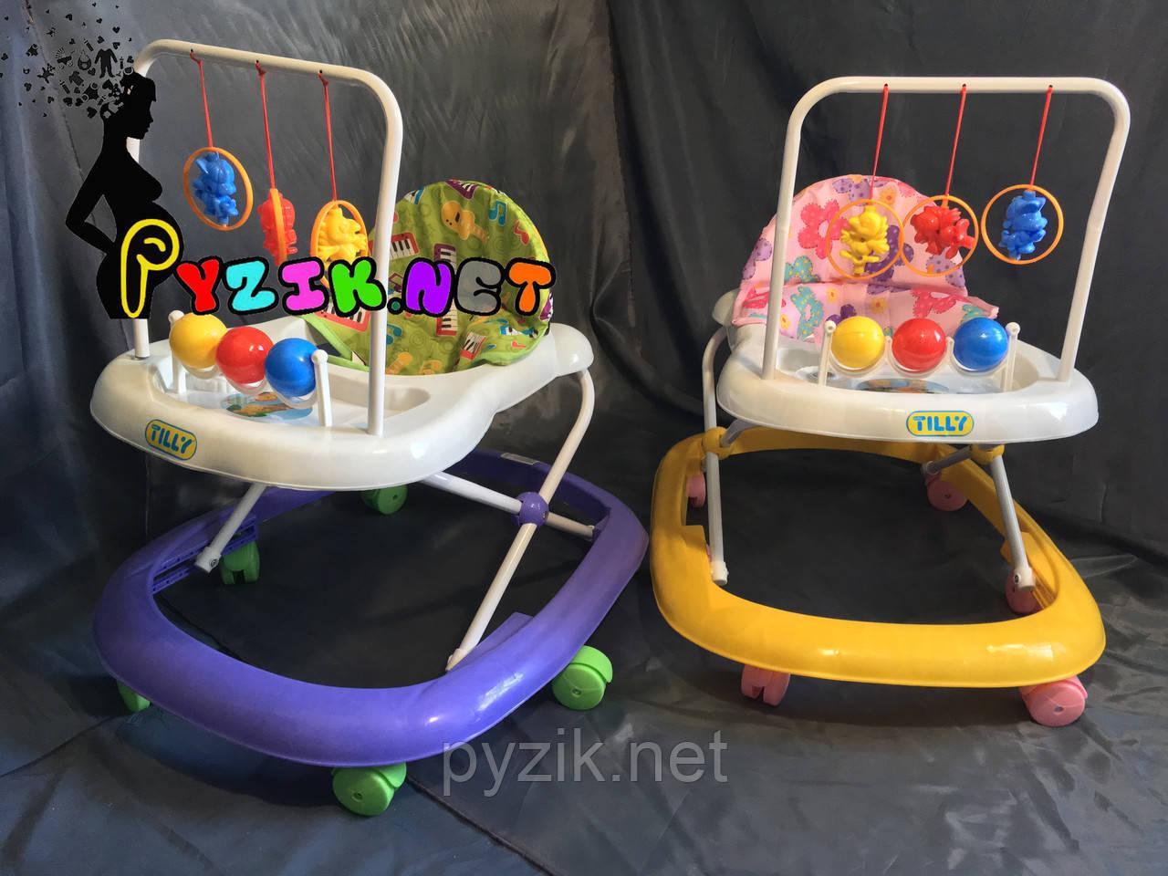 Детские ходунки Baby Tilly (Игровая панель, мелодия, 6 колес, развивалка)