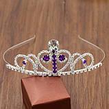 Корона, диадема София для девочки, высота 4 см., фото 2
