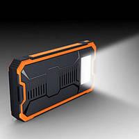 Портативная солнечная батарея 2OOOOмАч  с фонариком LED, фото 1