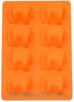 Форма силиконовая Empire 7194 Слоники 6 штук форма для выпекания