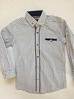 Рубашка на кнопке для мальчиков 6-14 лет