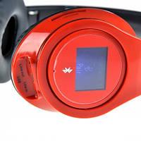Беспроводные Bluetooth наушники SD-968BT с mp3 плеером и Lcd дисплеем Red
