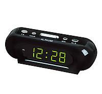Настольные часы VST 716 электронные с зеленой подсветкой 170*50*50 мм отсрочка сигнала будильник