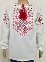 Блузка, украинская вышиванка из батиста Русана для девочки белая