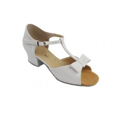 Туфли для танцев  детские для девочки на блок-каблуке натуральная кожа.  - Интернет-магазин Vitrina Shop в Днепре