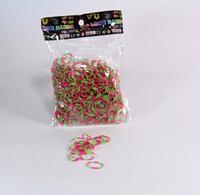 Набор резинок для браслета Loom Band LB004 фосфорные двухцветные резиночки