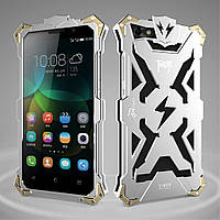 Чехол накладка бампер Simon Thor для Huawei Honor 4C серебристый