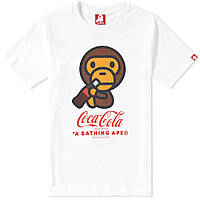 Футболка с принтом AAPE By A Bathing Ape Coca-Cola BAPE