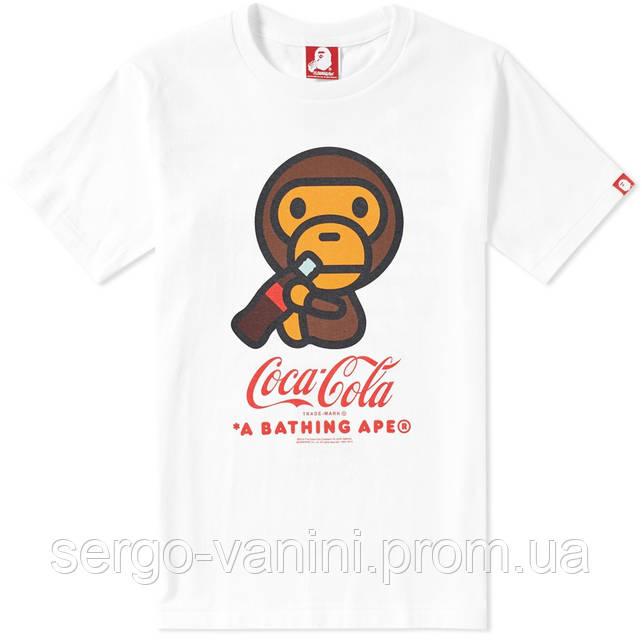 Футболка с принтом AAPE By A Bathing Ape Coca-Cola BAPE