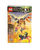 Конструктор KSZ Bionicle (Бионикл) аналог Lego 71303 ИКИР, ТОТЕМНОЕ ЖИВОТНОЕ ОГНЯ 77 деталей