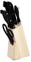 Ножи Empire ЕМ 3118 на деревянной подставке набор 8 предметов