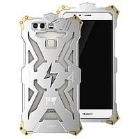 Чехол накладка бампер Simon Thor для Huawei P9 Plus серебристый