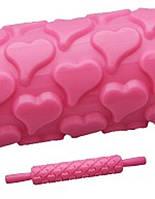 Скалка текстурная Empire 8973 сердечки для раскатки теста