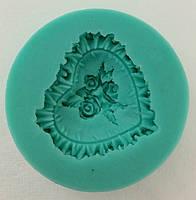 Молд роза в сердце Empire 8233 объемное украшение для кондитерских изделий