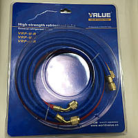 Заправочный шланг  R 410- 1,5м  1шт  для фреона VALUE
