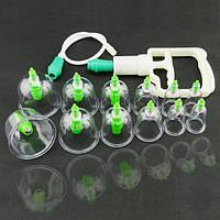 Вакуумные антицеллюлитные массажные банки Bao Yi Pull Out A Vacuum Apparatus 24 штуки + насос