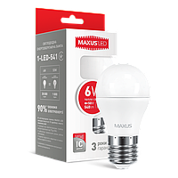 LED ЛАМПА MAXUS G45 6W LED ЛАМПА MAXUS G45 6W ТЕПЛЫЙ СВЕТ E27 (1-LED-541) E27 (1-LED-541)