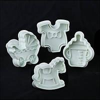 Плунжеры для мастики Детский Empire 8607 набор 4 шт