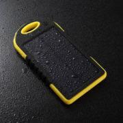 Портативная солнечная батарея 5ОООмАч желтая