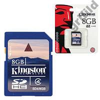 Карта памяти Kingston SDHC 8GB Class 4 SD флешка