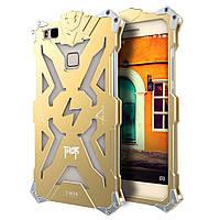 Чехол накладка бампер Simon Thor для Huawei P9 Lite золотистый