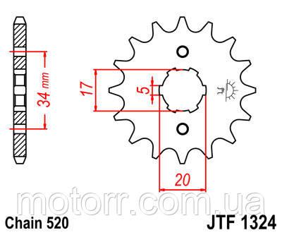 Звезда передняя JT JTF1324.13