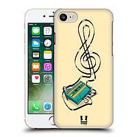 Пластиковый чехол для iPhone 7 узор Скрипичный ключ из магнитной ленты