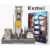 Аккумуляторная машинка для стрижки  волос и бороды Kemei KM 580-A, 7 в 1